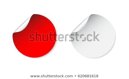Kırmızı etiket iş posta bilgi yazmak Stok fotoğraf © almir1968
