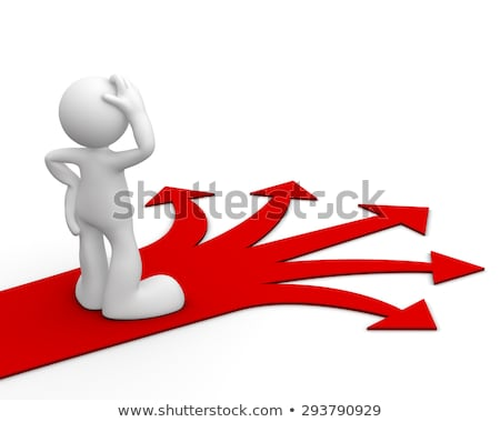 3d man with multiple arrow paths stock photo © dacasdo