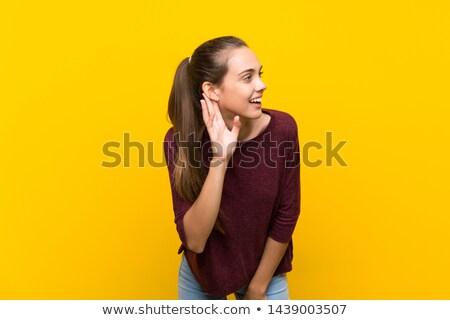 Woman listening to a secret Stock photo © piedmontphoto
