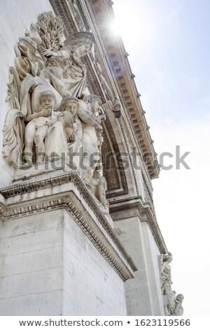 Arch trionfo la dettaglio Arc de Triomphe Parigi Foto d'archivio © ribeiroantonio