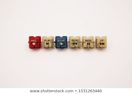 カセット プレーヤー ボタン ヴィンテージ ボタン 再生 ストックフォト © deyangeorgiev