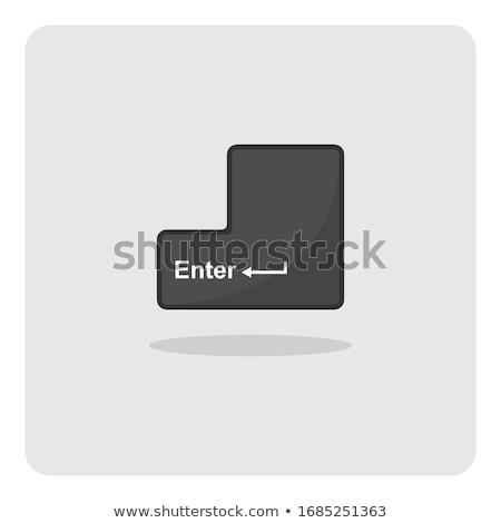 Indirmek klavye düğme iş Internet teknoloji Stok fotoğraf © MilosBekic
