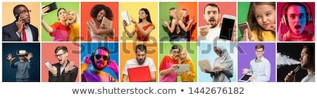 portrait of telephoning woman Stock photo © phbcz
