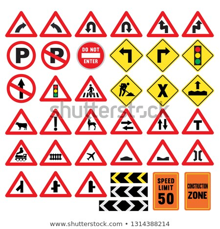 trun symbol on the road construction Stock photo © sweetcrisis