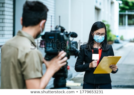 A journalist interviewing woman Stock photo © photography33
