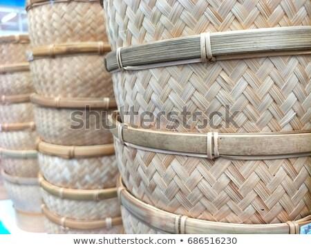 Old Bamboo handy craft Stock photo © stoonn