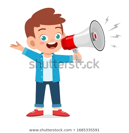 girl with loudspeaker and man Stock photo © photography33