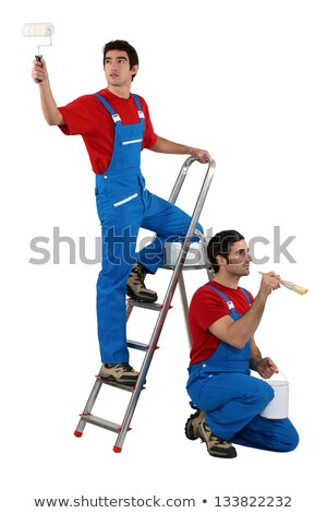 two decorators wearing matching clothes stock photo © photography33