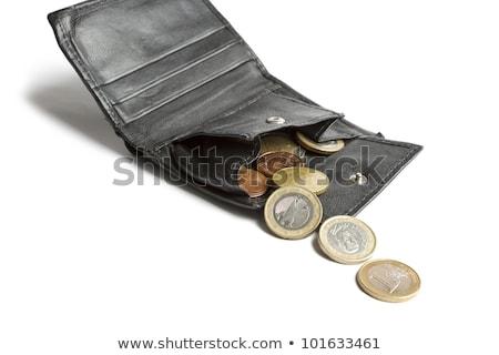 Bő pénz zuhan ki fekete pénztárca Stock fotó © gewoldi