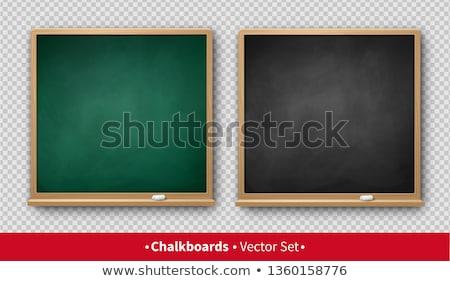 広場 緑 黒板 ツリー 木材 教育 ストックフォト © nuiiko