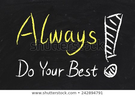 najlepszy · napisany · tablicy · słowa · kredy - zdjęcia stock © bbbar