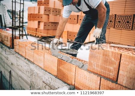 Kőművesmunka munka textúra terv otthon dolgozik Stock fotó © photography33