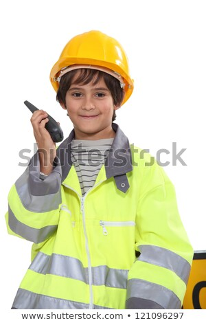 schoolboy dressed as foreman Stock photo © photography33