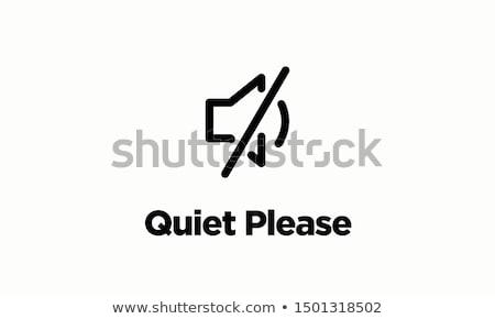 Csendes nő ujj felfelé száj kéz Stock fotó © jayfish