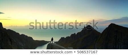 вечер мнение Норвегия облачный небе крутой Сток-фото © gewoldi