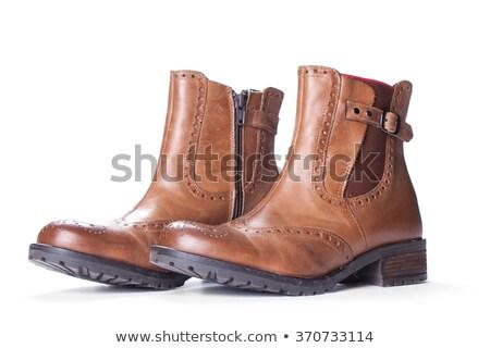 Pair of Brown Female Boots Stock photo © zhekos