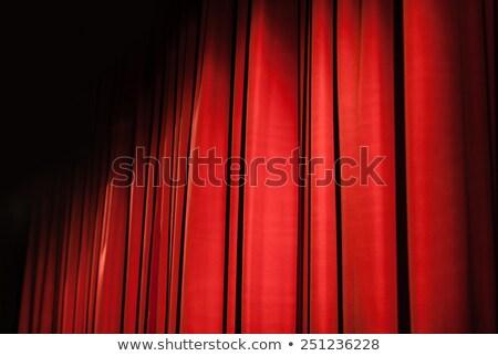 Pequeño etapa negro terciopelo teatro cortinas Foto stock © haiderazim