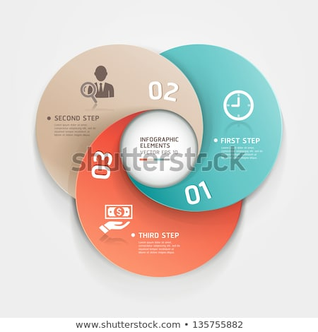 option tag with origami paper style for infographics stock photo © davidarts