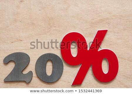 Húsz százalék el címke szöveg űr Stock fotó © marinini