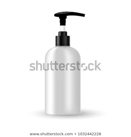 Fekete kozmetikai konténer üveg zuhany gél Stock fotó © Natashasha