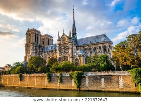 Paris · doğa · arka · plan · kilise · taş · mimari - stok fotoğraf © wavebreak_media