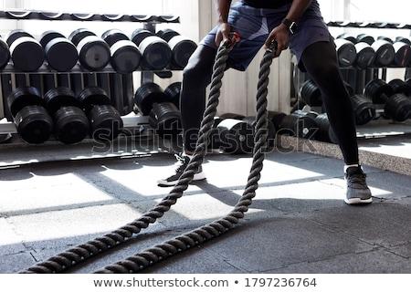 crossfit · gymnasium · man · hand · klimmen - stockfoto © lunamarina