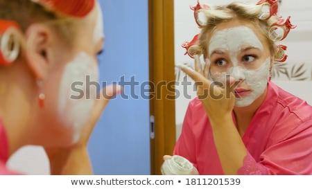 bastante · mulher · massagem · cara · estância · termal · centro - foto stock © wavebreak_media