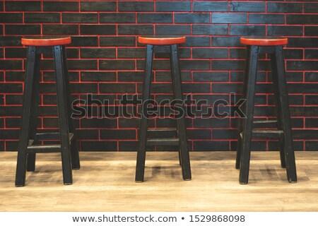 Rojo bar taburete aislado blanco diseno Foto stock © shutswis
