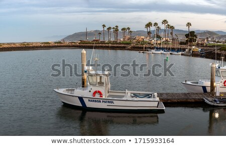 Harbor Patrol boat docked Ventura harbor dawn Stock photo © backyardproductions