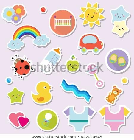 Baby stickers Stock photo © zsooofija