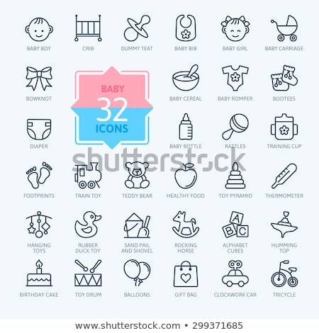 Vector icon tricycle and balloon Stock photo © zzve