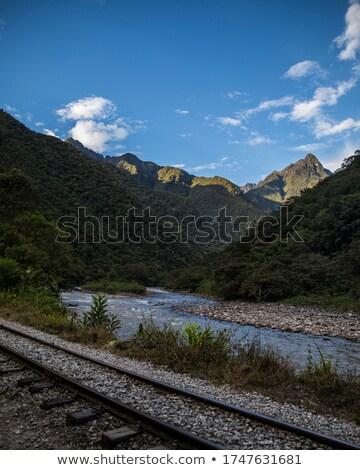 Rail road beside river  Stock photo © ABBPhoto