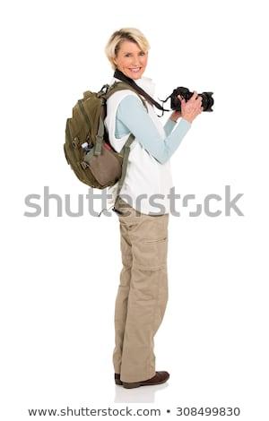 Side view of female photographer with photographic camera Stock photo © wavebreak_media