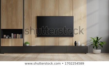 Tv pared prensa aislado blanco oficina Foto stock © ABBPhoto