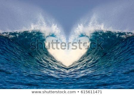 resumen · color · corazón · ola · ilustración · fondo - foto stock © magann