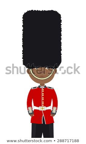 vector image of beefeater isolated on white stock photo © leonido