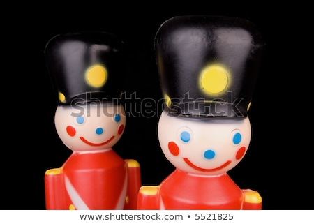 plastic toy soldier over red Stock photo © lunamarina