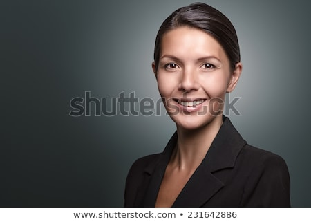 Sério empresária retrato Foto stock © chesterf