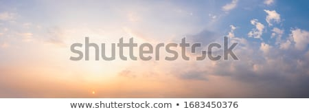 panorâmico · tiro · céu · pôr · do · sol · luz · fundo - foto stock © grafvision