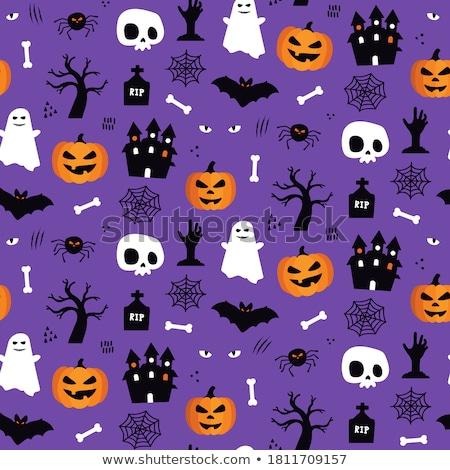 halloween · patroon · pompoenen · verschillend · kleur - stockfoto © BibiDesign