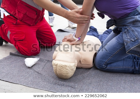 CPR training detail Stock photo © wellphoto
