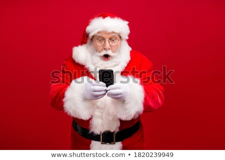 Portrait of happy Santa Claus Stock photo © HASLOO
