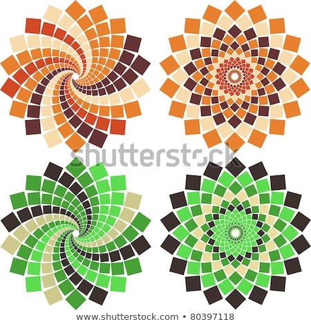 Concêntrico colorido mosaico padrão abstrato fundo Foto stock © Leonardi