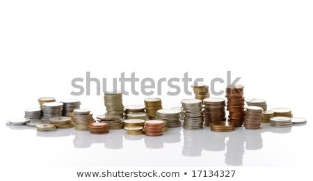 Stock photo: assorted euro coins