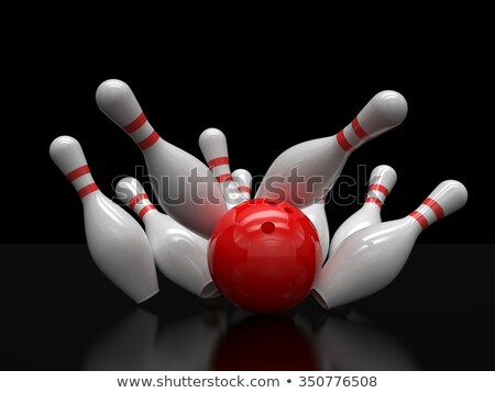Bowling Strike of Skittles Stock photo © make