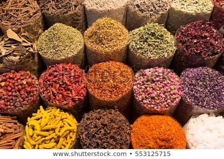 Temperos venda mercado Marrocos África cozinha Foto stock © haraldmuc