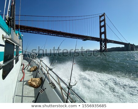 San Francisco Golden Gate Bridge canne à pêche Californie USA mer Photo stock © lunamarina