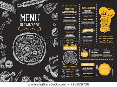 étterem menü terv étel háttér vacsora Stock fotó © maxmitzu