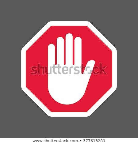 Stoptábla gomb háttér biztonság széf veszély Stock fotó © burakowski