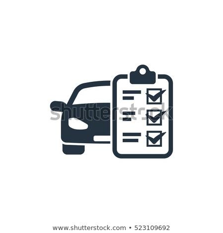 マスター · メカニック · チェック · 車 · エンジン - ストックフォト © runzelkorn
